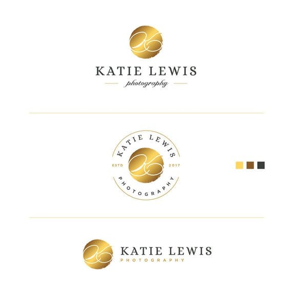 Mini Branding Kit, Classic logo, Luxury Logo, Elegant Logo, Retro Logo, Etsy Shop Logo, Round Logo, Events Logo, Fashion Blog Logo, Logo