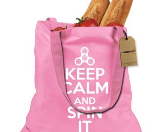Keep Calm And Spin It Shopping Tote Bag