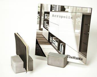 Concrete brochure holder