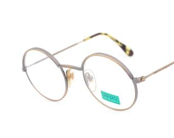 vintage round eyeglasses Kenzo Oscar K17 made in Japan 1980