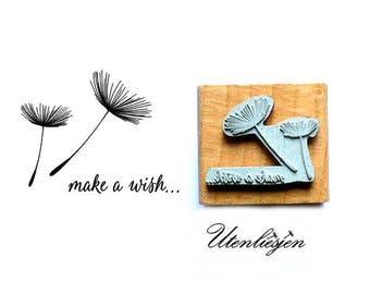 Stamp make a wish, dandelion