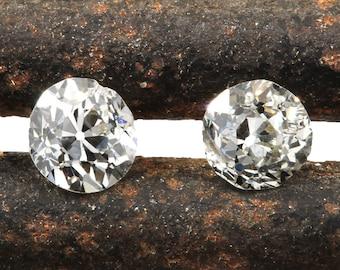 Diamonds loose old European cut  .27 ct , .27 ct   antique vintage   K L  i1   L i1   early round brilliant   circa late 1800