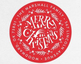 24 HOUR DIGTIAL FILE, Christmas Return Address Labels, Holiday Return Address Labels, Christmas Address Stickers, Printable Address Labels