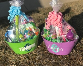 Baskets etsy easter baskets personalized easter baskets kids easter baskets customized easter baskets filled negle Image collections