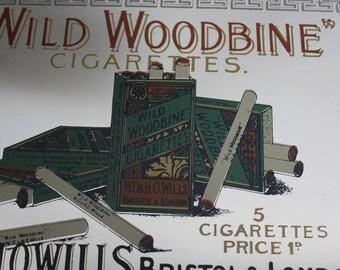 vintage woodbine advertising mirror