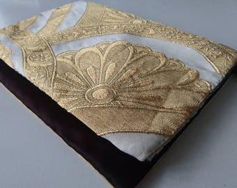 Tablet and PC case, 2way crossbody bag-Upcycled Japanese Vintage Kimono Obi fabric-