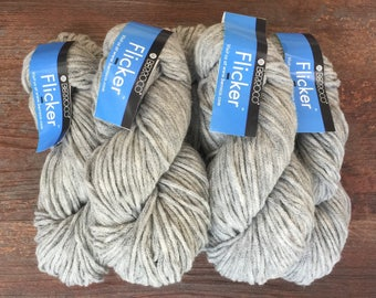 Berroco FLICKER Yarn New Stock 1/20 Siegfried 3305 Lot 518 Gray 11.99 +.99ea to Ship - 189 Yds Baby Alpaca Soft, Chainette, Hint of Sparkle.