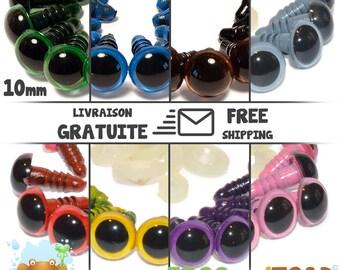 10mm Colour - Amigurumi Crochet - Safety Eyes - Yeux de sécurité - Occhi di sicurezza - Sicherheitsaugen - Ojos de seguridad
