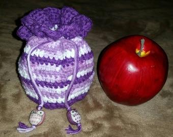 Handmade Crochet Multi-colored 100% Cotton Coin Purse