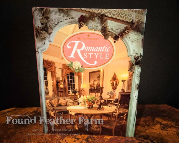 """Vintage Hard Cover """"Romantic Style"""" Tabletop Book Circa 1990"""