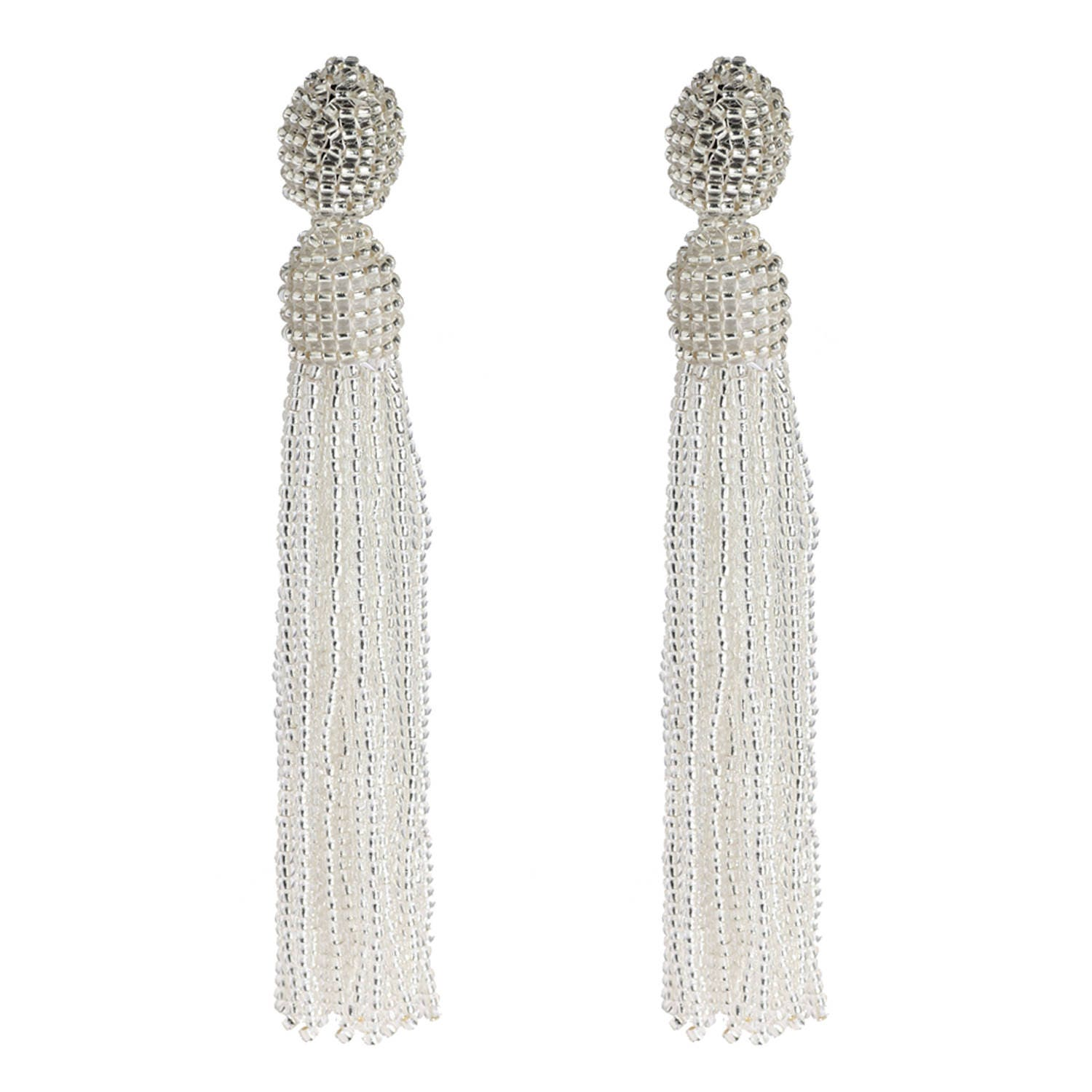 white hiho zoom stud sterling loading earrings beaded knot silver