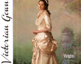 """Victorian Wedding Gown Pattern Victorian Costume Bustle Gown Pattern SIMPLICITY 4244 UNCUT bust 36-42"""" Victorian Cosplay Historical Costume"""