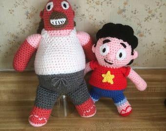 Crochet Amigurumi Father and Son Plush Set--FREE shipping