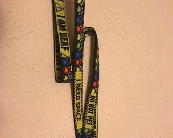 Multi Special Needs - I AM DEAF - Do Not Pet - Nervous - Dog Leash, Martingale Dog Collar