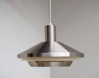 Beautiful mid century aluminium pendant - Danish design from the 1960s