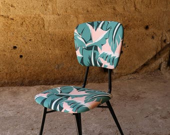 Chair fully restored vintage patterns fabric Palms Palmtree outdoor Nobilis