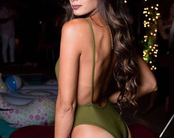 Laila One Piece  Swimsuite Olive Green