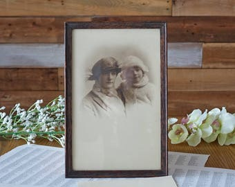 Vintage mother and child print - Vintage photograph - Antique wood frame print