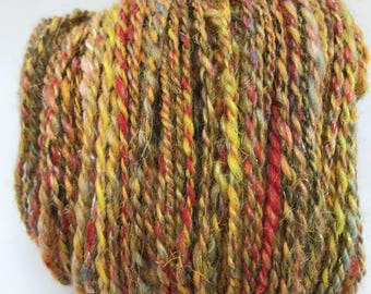 Hand spun yarn soft and sparkly ideal for an  accent or trim