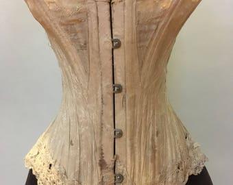 Antique 1900- 1910 silk corset
