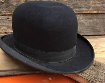 d9a3276b Vintage John B. Stetson Bowler Hat, Derby Hat, Movie Prop Hat
