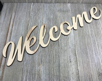 Welcome wedding wooden sign
