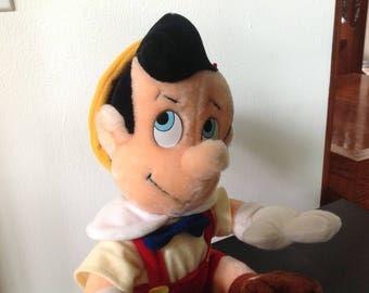 Vintage Pinocchio Disneyland Plush Toy Canasa Stuffed Toy