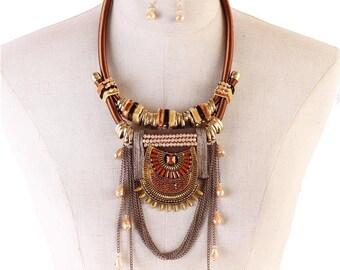 Fashion Drop Necklace Set