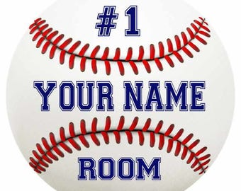 Your Name Baseball Bedroom Round Metal Sign Kids Bar Children Wall Decor Bed Game Room Custom