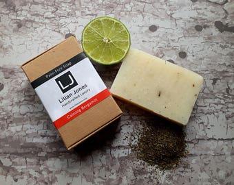 Tradiitonal 100% Natural Soap - Cruelty Free Vegan - SLS, Parabens and Palm Oil Free - CALMING BERGAMOT
