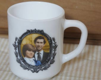 Vintage 1981 Commemorative Cup Of The Royal Wedding Between Prince Charles And Lady Diana Spencer,Arcopol,France,Collectibles,Display, Retro