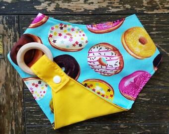Donut Waterproof Reversible Interchangeable Teething Bib