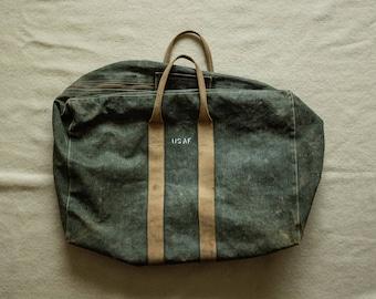 Original WW2 USAF Aviators Kit Bag Duffle Flight Canvas Olive Drab US Air Force usn buzz rickson real mccoy nigel cabourn rrl dopp travel