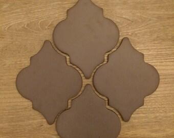 OctoberSaleEvent Tiles Vintage Arabesque Concrete Tile Brown Multiple Available 1950s