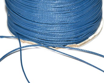 10 meters wire 0.5 mm waxed dark blue polyester cord