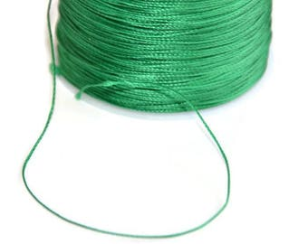 5 m wire Green 0.5 mm polyester cord