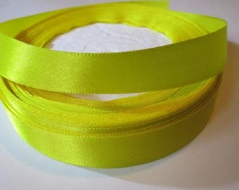 5 m yellow 16mm satin ribbon