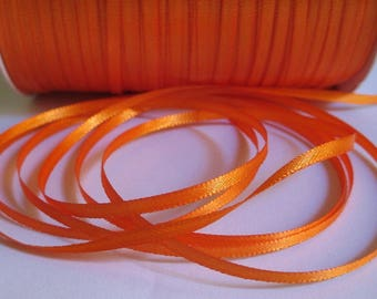 5 m orange 3mm satin ribbon