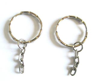 25 rings 25 mm silver color key