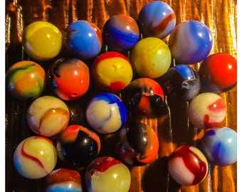 Lot # 24 ( 22 Asorted  Marbles)