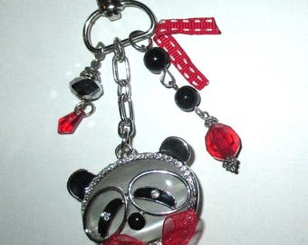 Jewelry ღ ღ glass beads and little panda / unique