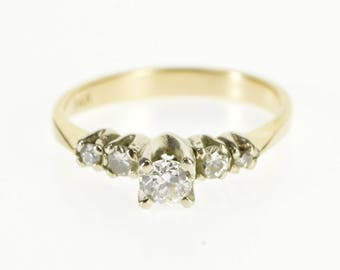 14k 0.43 Ctw Diamond Accent Stone Engagement Ring Gold