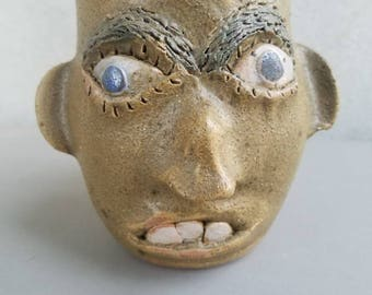 Face Mug By Jerry Brown  Rising Fawn Folk On Side