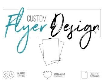 Custom Flyer Design, Business Flyer Design, Graphic Design Service, Party Flyer, Invitation Flyer, Wedding Flyer, Single Sided Flyer Design
