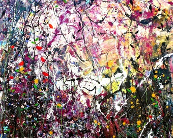 Hedgerow - Large painting