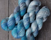 Hand Dyed Silky Merino Lace Yarn - Rooftop