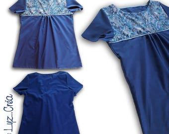 Custom * liberty woman Blouse and cotton short sleeve