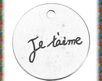 "4 Medallion ""I love you"" antique silver pendants"