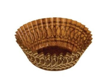 Brown and Gold Mini Baking Cups - 100 Count