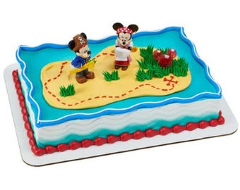 Mickey Mouse & Minnie Pirates Cake Topper